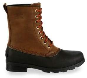 Sorel Emelie Lace-Up Leather Booties