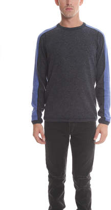 Blue & Cream Blue&Cream Cashmere Honeycomb Panel Crew