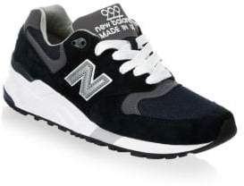 New Balance 999 Suede Mesh Athletic Sneakers
