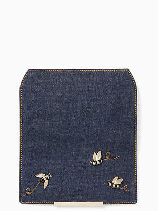 Kate Spade Make it mine denim with bees flap