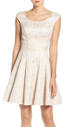 Betsey Johnson Jacquard Fit & Flare Dress $168 thestylecure.com