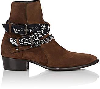 Amiri Men's Bandana-Strap Suede Jodhpur Boots - Brown