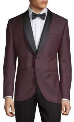 Lubiam Diamond-Print Tuxedo Jacket