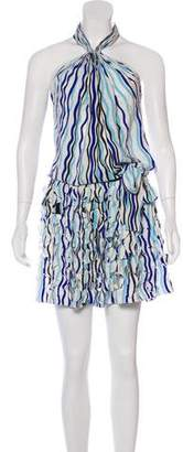 Diane von Furstenberg Printed Halter Midi Dress