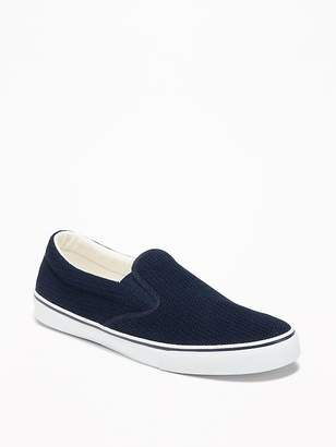 Old Navy Canvas-Mesh Slip-Ons for Men