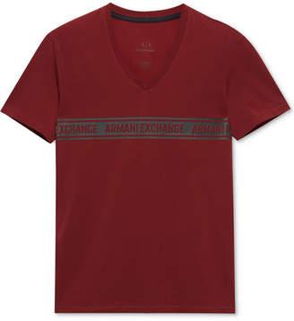 Armani Exchange Men's Slim-Fit V-Neck T-Shirt