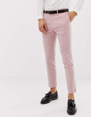 Hatch ASOS DESIGN wedding skinny suit pants in rose pink cross