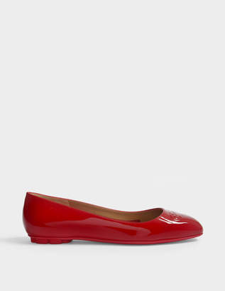 Salvatore Ferragamo Broni Ballerinas in Red Naplak Leather