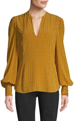 Joie Printed Long-Sleeve Blouse