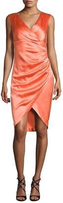 Kay Unger Women's Satin Sheath Dress