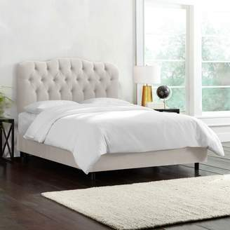 Lulu & Georgia Anita Velvet Tufted Bed, Silver Gray