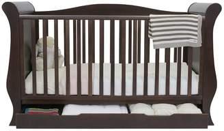babystyle Hollie Sleigh Cot Bed - Rich Walnut