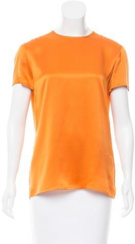 Chanel Short Sleeve Satin Top