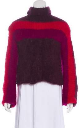 Rosie Assoulin Striped Alpaca Turtleneck w/ Tags