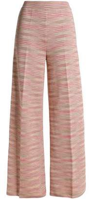 M Missoni Striped Knitted Wide-leg Pants