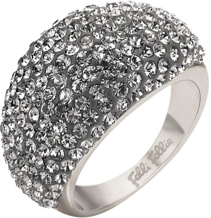 FOLLI FOLLIE Grey Crystal Cocktail Ring