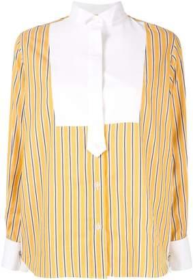 Sacai striped bib shirt
