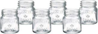 Artland Set Of Six 2.5Oz Mason Jar Shot Glasses