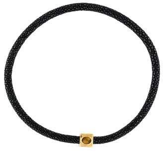 Fendi Stingray & Tiger's Eye Quartz Collar Necklace