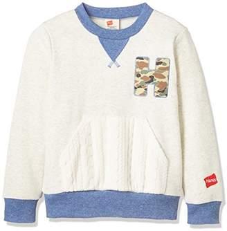 Hanes (へインズ) - (ヘインズ) Hanes 子供服 ポケット付きクルースウェット HE8573 [キッズ] HE8573 02 オフホワイト 130