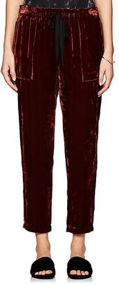 Raquel Allegra Women's Velvet Drawstring-Waist Pants