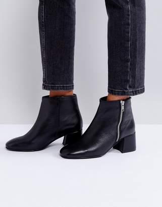 Park Lane Zip Mid Heel Leather Boot