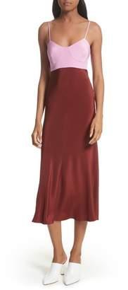 Tibi Silk Lingerie Dress
