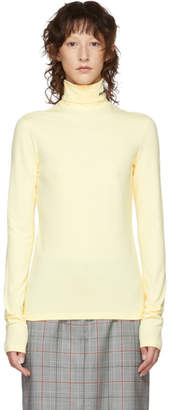 Calvin Klein Yellow Logo Turtleneck