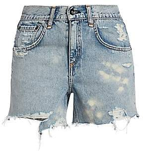 Rag & Bone Women's Dre Low-Rise Distressed Denim Cutoffs