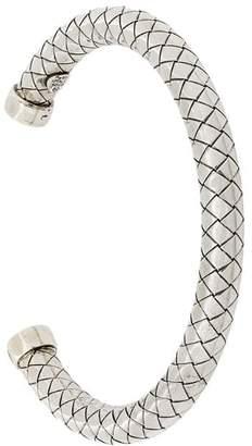 Bottega Veneta Intrecciato silver bracelet