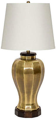 One Kings Lane Vintage Brass Ginger Jar Lamp by F. Cooper - Janney's Collection