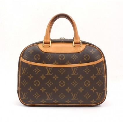 Louis Vuitton very good (VG Brown Monogram Canvas Trouville Hand Bag