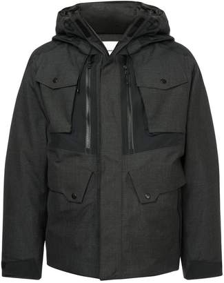 White Mountaineering front zipped hooded jacket