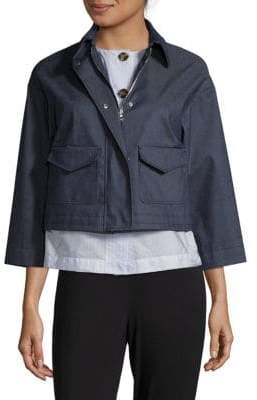 RED Valentino Zip & Snap Cropped Jacket