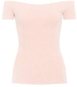 Helmut Lang Knitted off-the-shoulder top