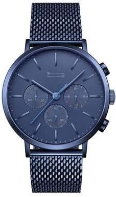Uri Minkoff Griffith Blue Tone Mesh Bracelet Watch, 43MM