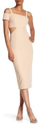 Jay Godfrey Marquette One Shoulder Cutout Dress