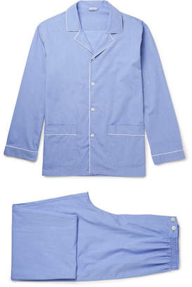 Zimmerli Mercerised Cotton Pyjama Set - Blue