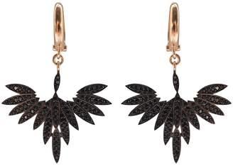 Fly London Wild Hearts - Black High Earrings