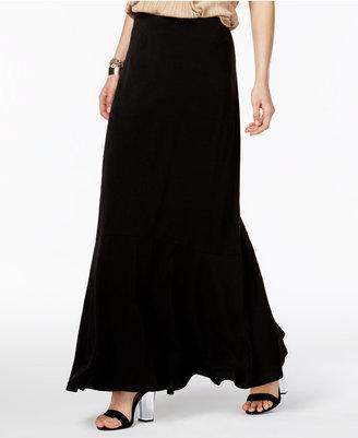 ECI Ruffled Maxi Skirt $60 thestylecure.com