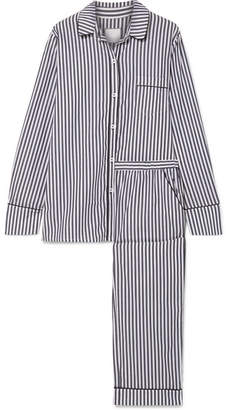 Three J NYC Halle Striped Cotton-voile Pajama Set - Gray