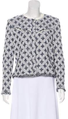 IRO Leather-Trimmed Patterned Jacket