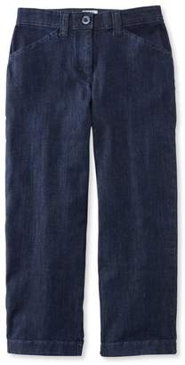 L.L. Bean L.L.Bean Easy-Stretch Pants, Cropped Denim