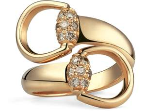 Gucci Gold ring with brown diamonds