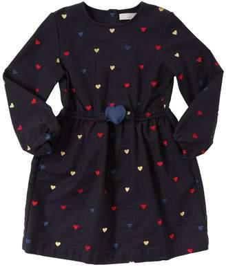 Stella McCartney Heart Embroidered Cotton Gabardine Dress