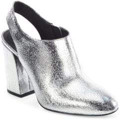 Michael Kors Collection Clancy Metallic Leather Booties