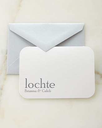 Carlson Craft Slate Raised Ink Personalized Cards with Plain Envelopes
