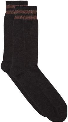 Brunello Cucinelli Metallic Stripe Socks