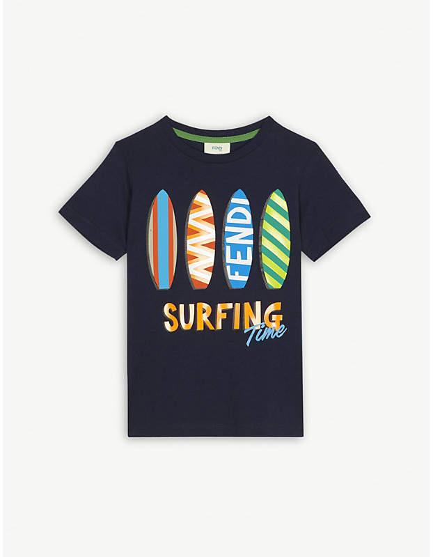 Surfboard cotton T-shirt 4-14 years