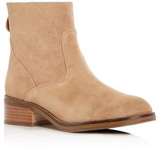 Kenneth Cole Gentle Souls Women's Parker Suede Low Heel Booties